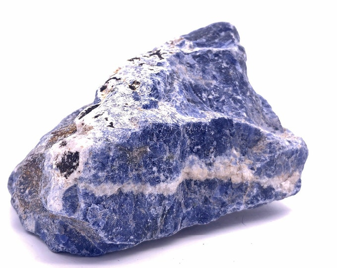 Cobble Creek: (1.8LB) Large Chunk of Blue Sodalite Natural Raw Rough from Brazil