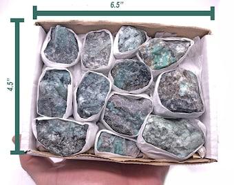 "Cobble Creek: Emerald on Matrix Flat from Brazil (1"" - 2"" specimens)"
