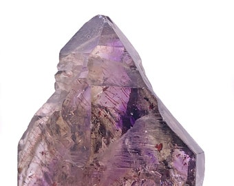 Double-Terminated Smoky Amethyst Quartz Point from Zimbabwe, South Africa
