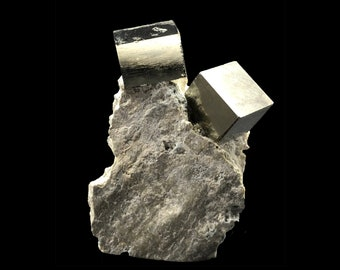 Cobble Creek: Pyrite Cube on Matrix from Spain