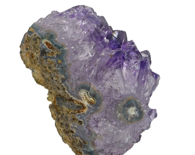 Cobble Creek: Mini Lollipop Amethyst Druze Cluster on Stand from Uruguay