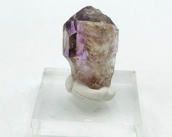 Tiny Smoky Amethyst Point from Zimbabwe, Africa with base - natural - raw