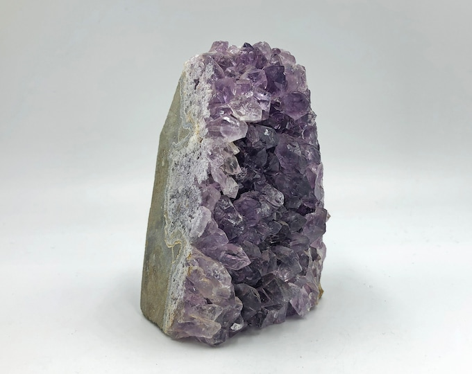 Cobble Creek: Self Standing Amethyst Cluster with Cut Base from Uruguay