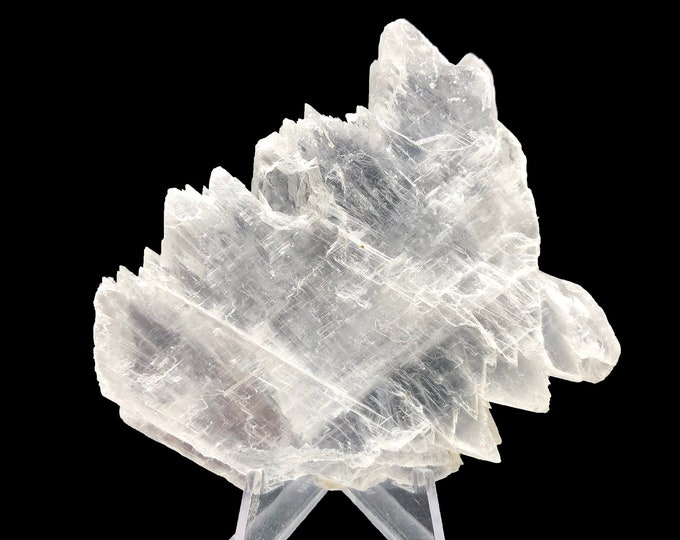 "Fishtail Selenite from Durango, Mexico - Real - Natural Specimen 3.3"" L x 0.5"" W x 2.9"" H"