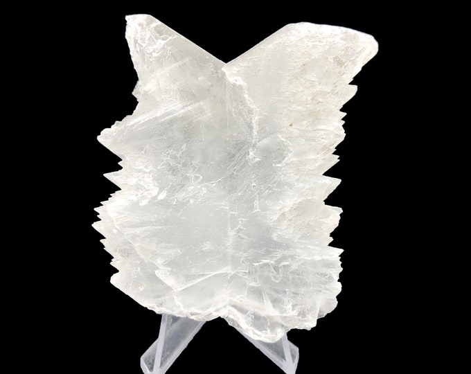 "Fishtail Selenite from Durango, Mexico - Real - Natural Specimen 3.1"" L x 1.5"" W x 2.8"" H"