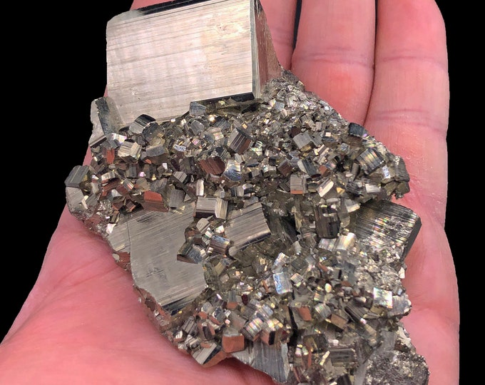 Cobble Creek: Pyrite Cluster Plate from Huanzala Mine, Peru