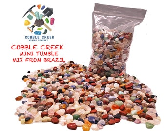 Cobble Creek: 1 LB  MINI TUMBLE mix from Brazil (100s of pieces per pound)