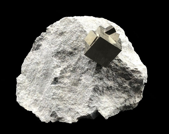 Cobble Creek: Pyrite Cubes on Matrix from Spain