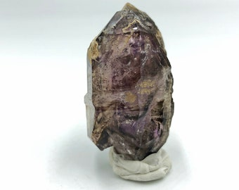 Double-Terminated Smoky Amethyst Point from Zimbabwe, Africa