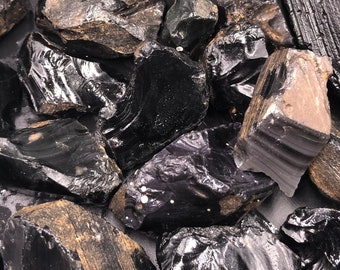 1 LB Black Obsidian Rough from Mexico