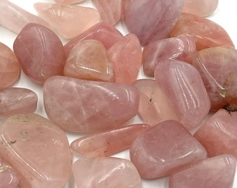 Cobble Creek: 1 LB Rose Quartz Tumbled Stones from Madagascar Bulk Grade A Tumbles