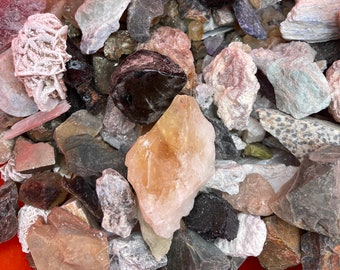 1 LB Cobble Creek Mystery Mix - Natural Raw Rough -  Mix of rough from around the world! - Mexico, Madagascar, Brazil, Africa, India