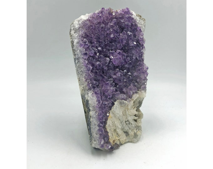 Cobble Creek: 2.5 LBS Self Standing Amethyst Cluster with Cut Base from Uruguay