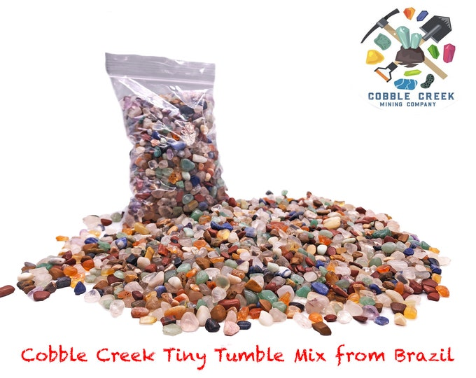 Cobble Creek: 1 LB  TINY TUMBLE mix from Brazil (100s of pieces per pound)