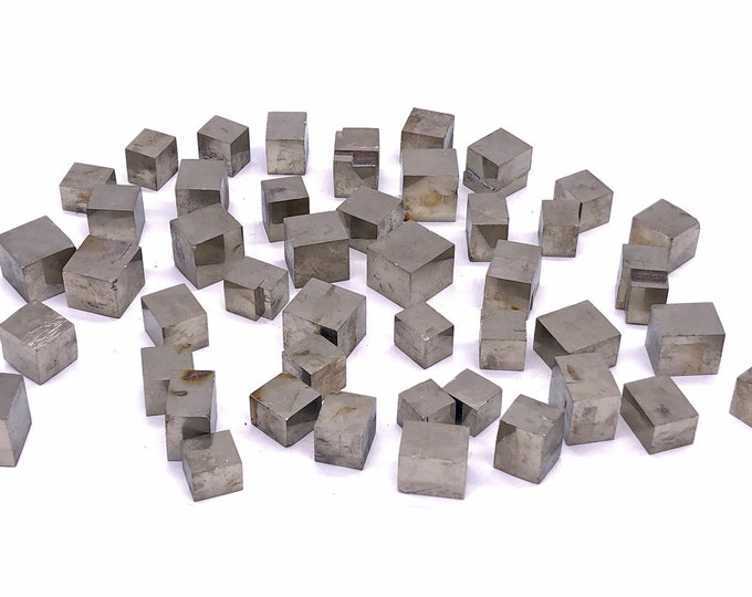 Cobble Creek: Pyrite Cubes from Navajún, La Rioja, Spain