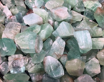 Cobble Creek: 1 LB Green Calcite Raw Rough from Mexico