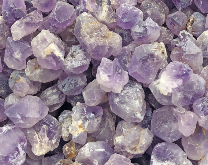 25-Pack of Tiny Elestial Amethyst Clusters from Madagascar - Cobble Creek - Natural Raw Real Natural