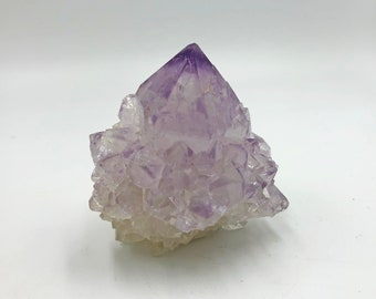 Cobble Creek: Spirit Cactus Quartz Cluster with Lavender Colored Amethyst from South Africa