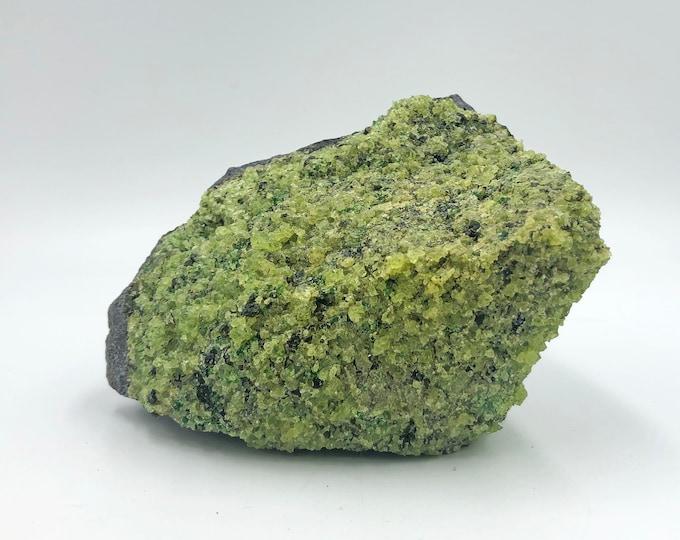 Large 1.9 LB Peridot on Basalt Matrix from Arizona, USA