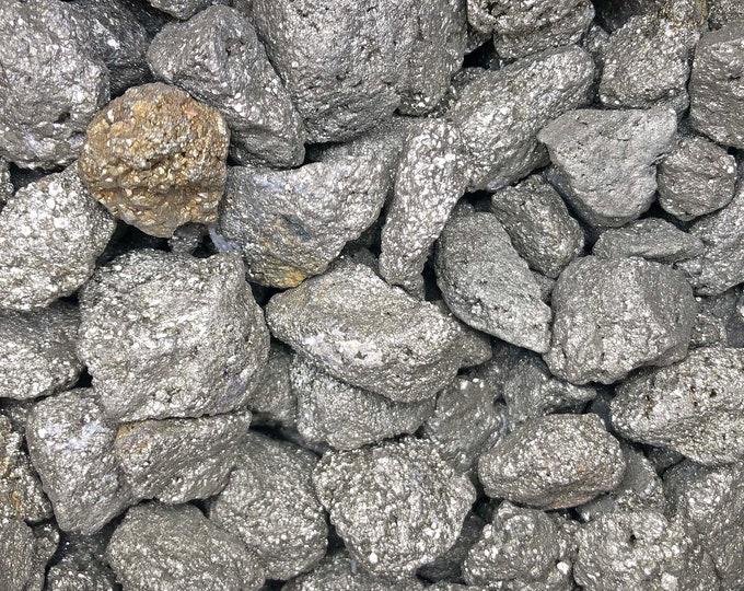 "Cobble Creek: (1""-1.5"") 1 LB Pyrite Nuggets - Rough from Peru"