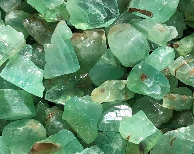 "1 LB Small Emerald Green Calcite from Durango, Mexico (1"" - 1 1/2"") -  15 pieces per pound - Great color!"