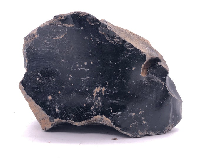 Cobble Creek: 1.4LB Large Chunk of Obsidian Raw Rough Natural from Mexico