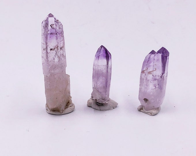 FREE S&H: Veracruz Amethyst Lot from Mexico - 3 points