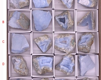 Cobble Creek: Mini Natural Blue Lace Agate from Malawi, South Africa - Blue Chalcedony - Druzy