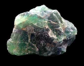 Cobble Creek: Large 4.2 LB  -  Rainbow Fluorite from Mexico - Raw - Natural - Rough - Chunk