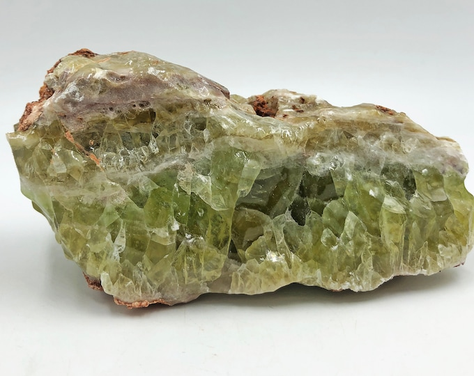 Cobble Creek:  Banded Green Calcite from Mexico