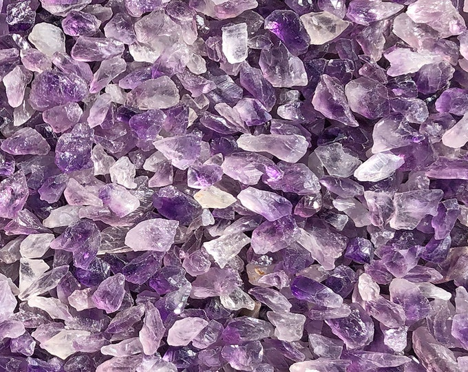 """1 LB Small Amethyst Chip/Frags/Pieces Rough Mix (1/2""""-1"""" pieces)"""
