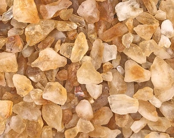 """1 LB Small Citrine Chip/Frags/Pieces Rough Mix (1/2""""-1"""" pieces) Heat Treated"""