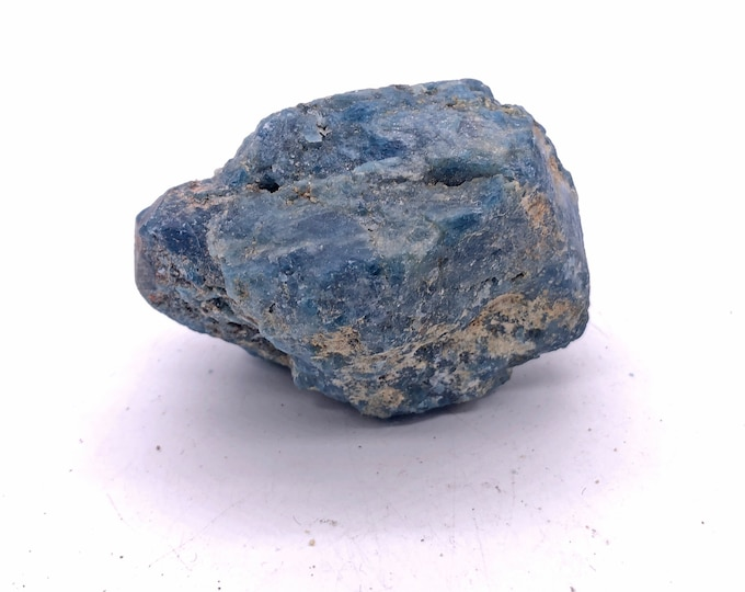 Cobble Creek:  Large 12.4 ounces Blue Apatite Raw Rough from Brazil