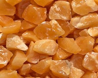"""1 LB Small Orange Calcite from Durango, Mexico (1"""" - 1 1/2"""") -  15 pieces per pound - Great color!"""
