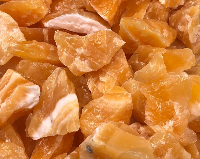 1 LB Beautiful Lg Chunks of Orange Calcite from Mexico