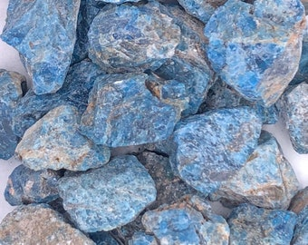 1 LB Blue Apatite Rough from Madagascar - Natural Raw Rough