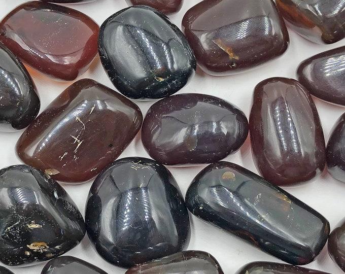 Indonesian Tumbled Amber Sold Individually - Black Amber