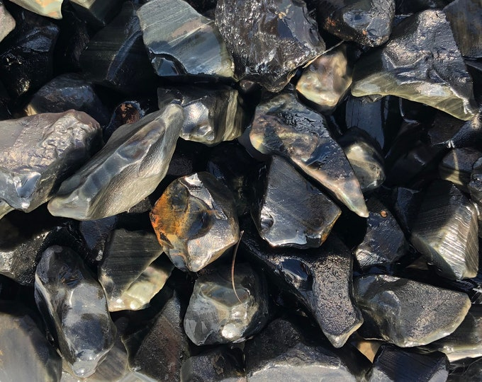 1 LB Rainbow Obsidian Rough from Mexico