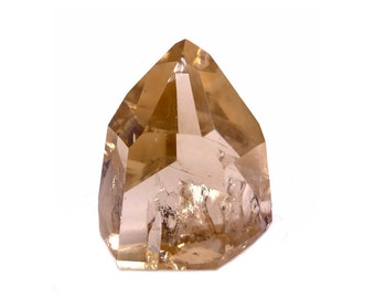 Cobble Creek: Golden Hues, Grade A+ Polished Natural Citrine Point from Brazil