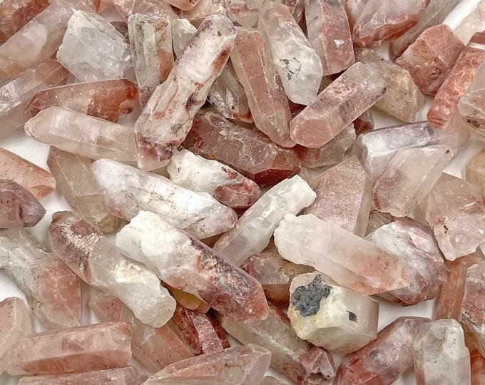"1 LB Red Hematoid Quartz Points from Madagascar - Fire Quartz - Natural - 1""-2""/~35 pcs per pound"