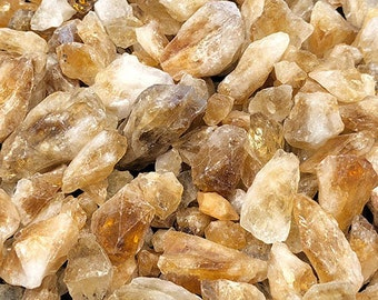 1 LB Citrine Points Rough from Brazil