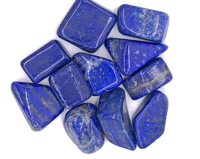 Cobble Creek: Tumbled Lapis Lazuli (Grade A+) Tumbled Stones from Afghanistan - Great Color!