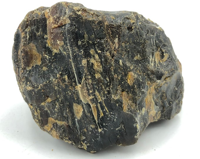 """Large Chunk of Natural Black Amber from Sumatra, Indonesia 302g - 10.7 ounces 4.1""""L x 3.3""""W x 2.7""""H"""