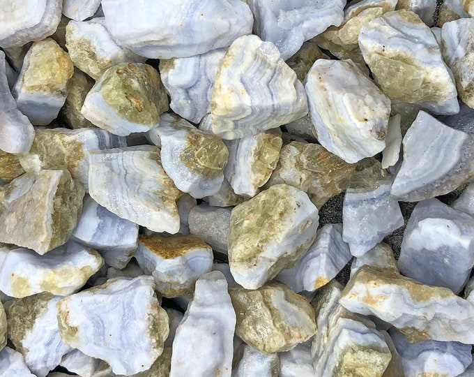 Cobble Creek: 1 LB Blue Lace Agate Natural Rough from Namibia, Africa