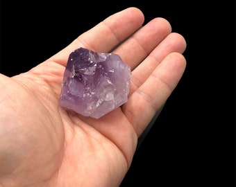 Natural Amethyst Point with Cut Base 1 3/4""