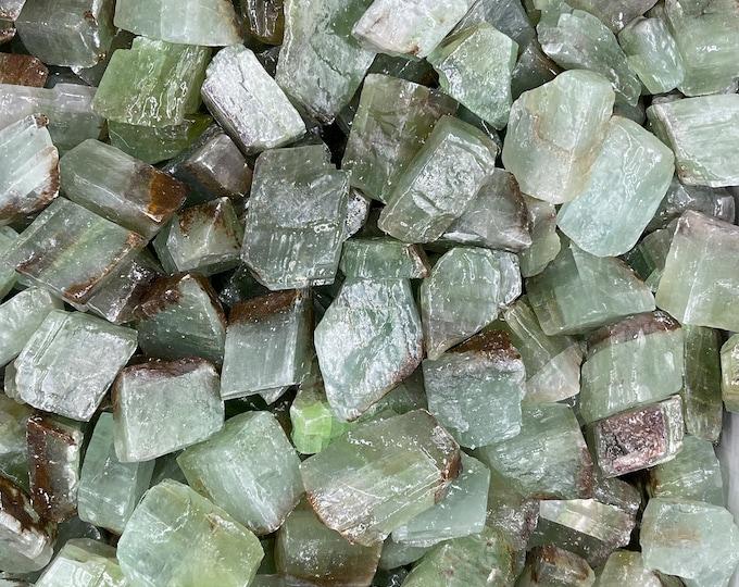 "1 LB Green Calcite from Durango, Mexico (Grade B 1"" - 2 1/2"") -  ~12 pieces per pound"