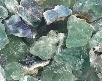 """1 LB Medium Green Fluorite from Durango, Mexico - Rough Mix (~1.5""""-2"""" pieces)"""