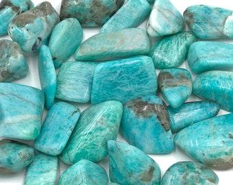 Cobble Creek: 1 LB Amazonite Tumbled Stones from Madagascar (Great Quality) -Bulk Grade A Tumbles