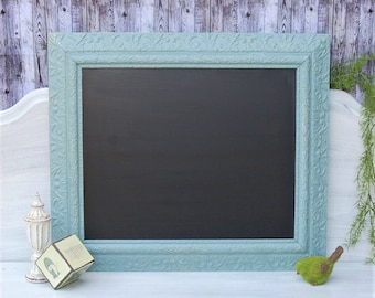 Ornate Frame Chalkboard ~ Message Board~ Primitive Decor~Distressed~Wall Decor~ Office ~Shabby Chic Cottage Decor~ Signs~ Chalk Paint