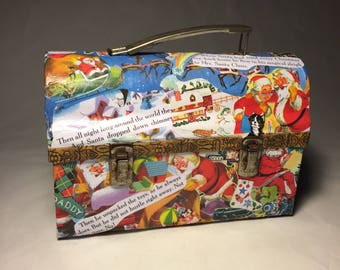 Santa's Lunch Box • Decoupaged with Images from Little Golden Books